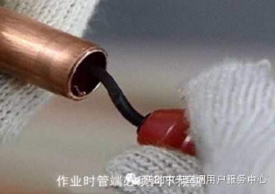 空气能热水器冷媒管安装