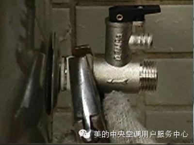 美的空气能热水器管路附件排气阀连接