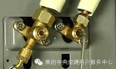 美的空气能热水器机组调试抽真空